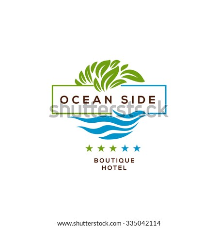logo for boutique hotel  ocean