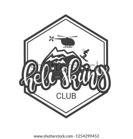 logo for heli skiing club with