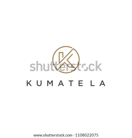 Logo for initial simple K with circle Stock fotó ©