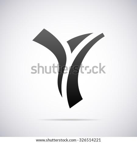 Logo for letter Y. Design template