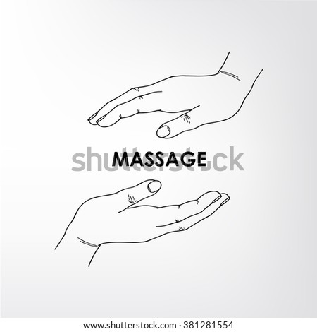 Logo for the massage parlor. The image can be used for printing cards and posters, as backgrounds, advertising, logo massage salon, medical center