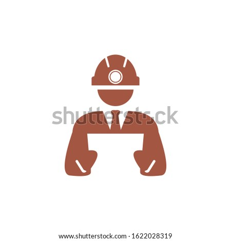 logo foreman of construction worker