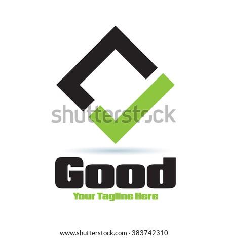 Logo Good Yes Icon Element Template Design Logos