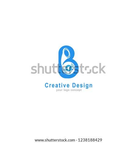 logo gramofon in letter b vector Stock fotó ©