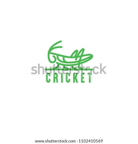 logo grasshopper  cricket