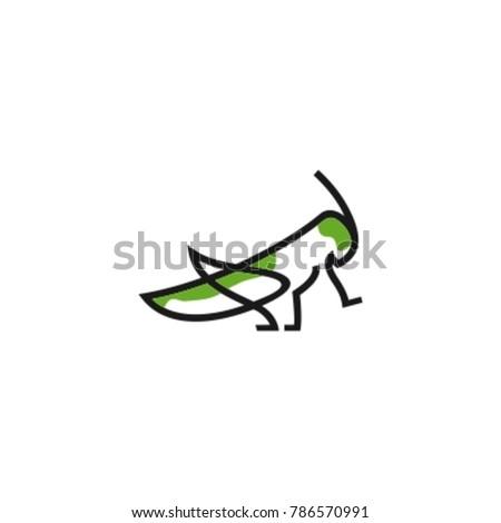 logo grasshopper with monoline