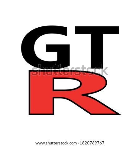 logo gtr nissan black and red