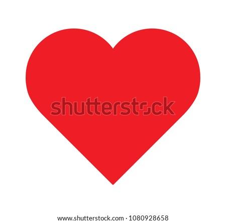 logo heart illustrationred