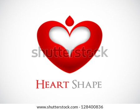 logo heart shape design