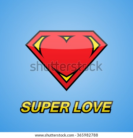 logo heart super love