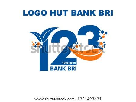 Logo HUT Bank BRI Bank BRI BirthDay Logo