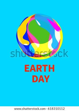 logo  icon  earth day card