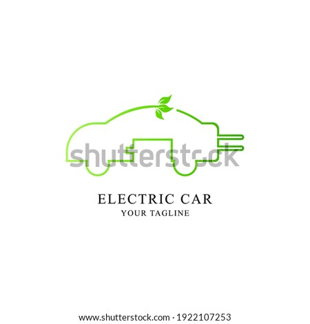logo icon environmentally friendly electric cars Stock photo ©