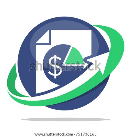 logo icon for business administration, tax service management
