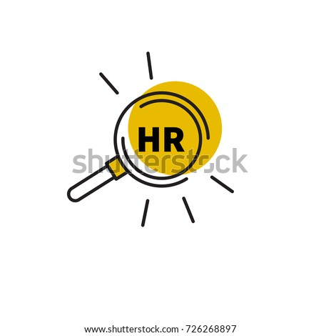 Logo, icon human resources, hr. Stock vector