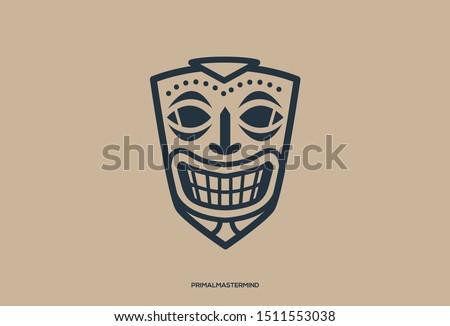 logo icon of ethnic mask