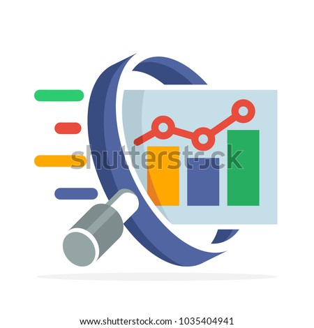 logo icon with the concept of stock investment prospect analysis, business development analysis
