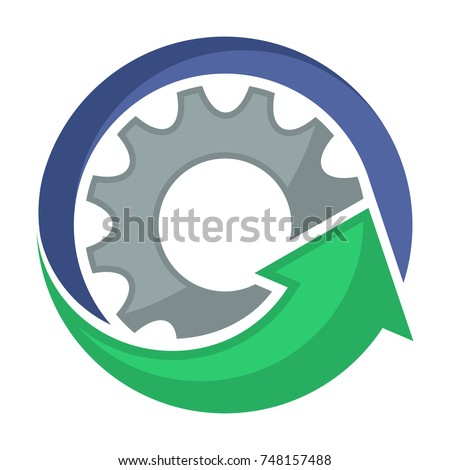 logo icons for mechanical business, service, repair and maintenance