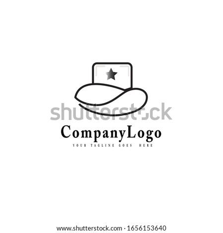 logo illustration cowboy head