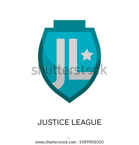 Stock Photo logo justice league isolated on white background for your web and mobile app design , colorful vector icon, brand sign & symbol for your business, logo justice league icon concept