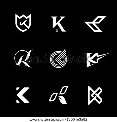 Logo K Letter for any Business Company  Stock fotó ©