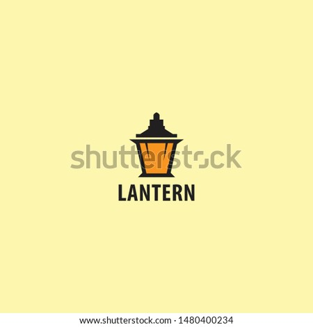 logo lantern with a simple and minimalist shape and bright lights. unique, modern.