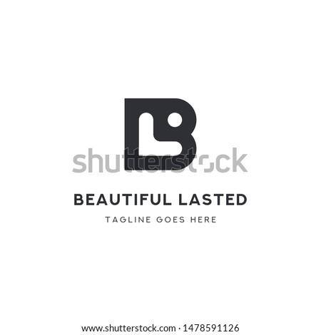 Logo Letter BL, Concept Letter B + L + Icon Member, simple design. Stock fotó ©