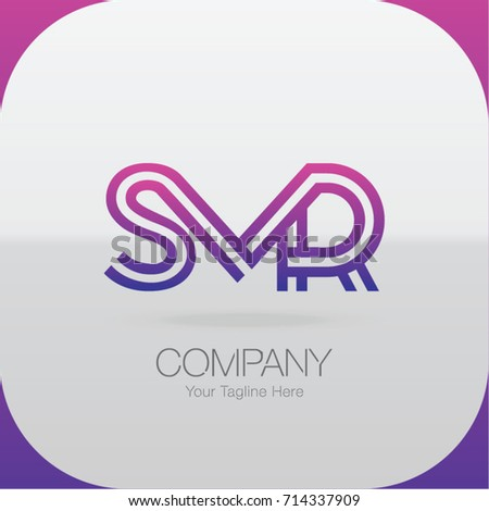 Logo Letter Combinations S, M and R. 3 Letter Combinations Stock fotó ©