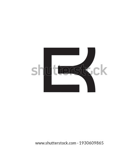 logo letter e k c k simple abstract font Stok fotoğraf ©
