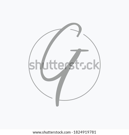 Logo letter 'G', with a classic feel. Stock fotó ©