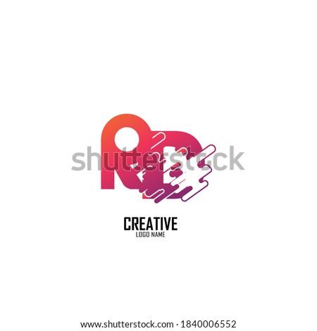 logo letter r,m,n,k,c, beauty logo gradient Stock fotó ©
