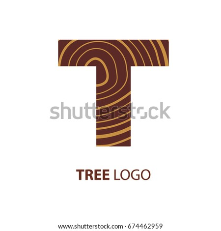 logo letter t  wood furniture