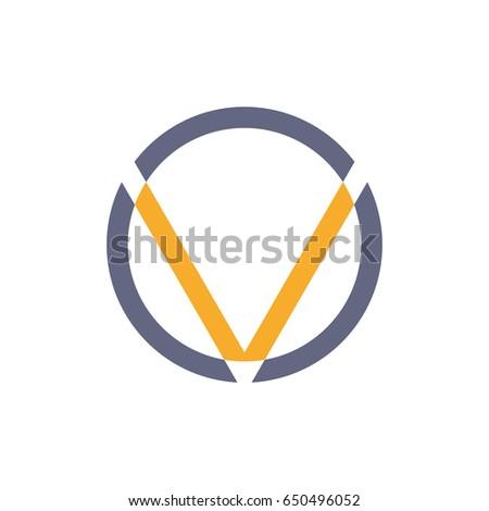 logo letter v with circle