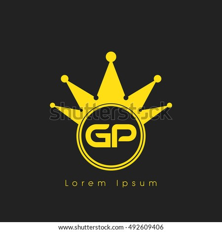 logo letters g and p yellow