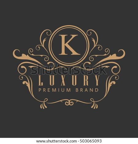 Logo luxury elegant design vintage label vector illustration