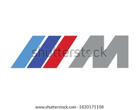 Logo m icon vectoriel sur fond blanc Stock photo ©