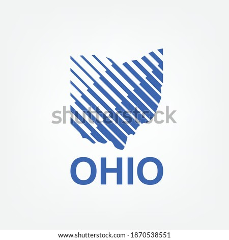 logo map of ohio with lines shape