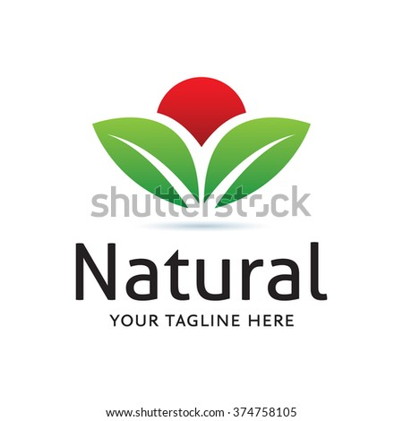 Logo Natural Icon Element Template Design Logos