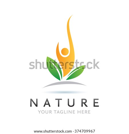 Logo Nature Man Icon Element Template Design Logos
