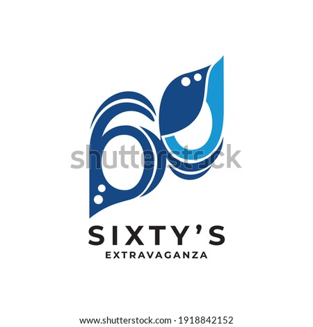 logo number 60 with the theme of the masquerade party extravaganza Stockfoto ©