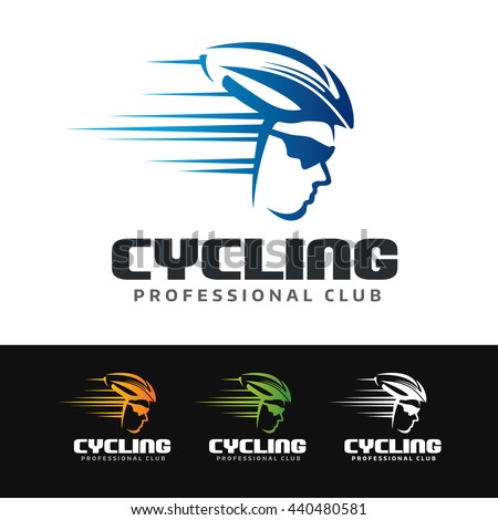 logo of a cyclist with helmet