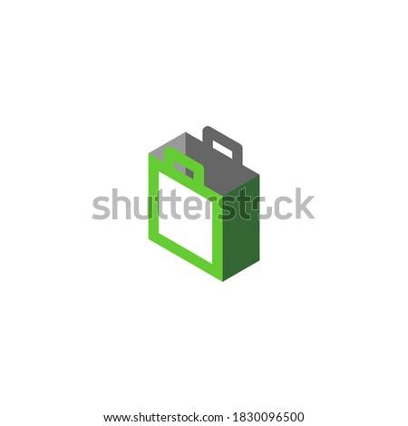 logo of a green boxy shopping