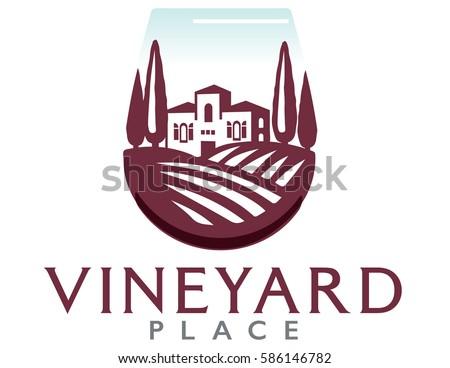 logo of a villa on a vineyard