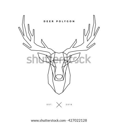 logo of deer frame head