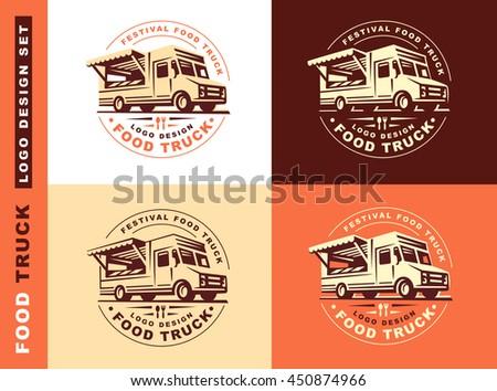 Logo of food truck Foto stock ©