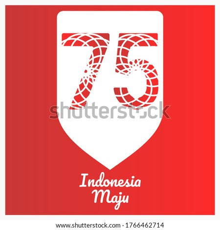 stock vector logo of th indonesia independence day illustration th anniversary of the republic of indonesia 1766462714