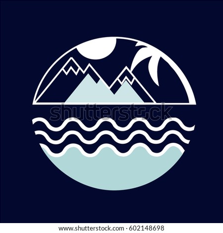 logo of the mountains and the