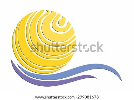 Logo of the sun and sea.  #299081678