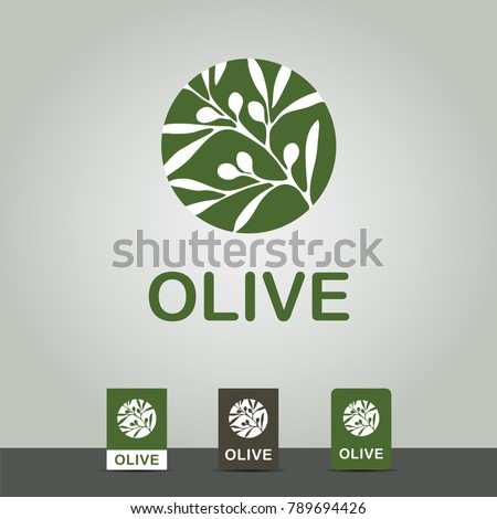 Logo olive branch with leafs