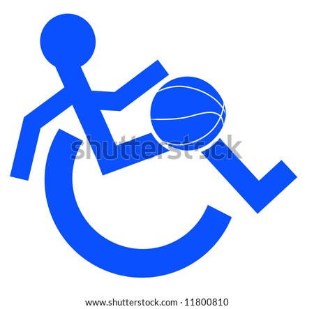 logo or symbol for wheelchair accessible sports or activities - vector
